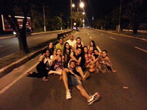 Por onde andávamos, gritávamos Selva! (Foto: Danilo Oliveira)