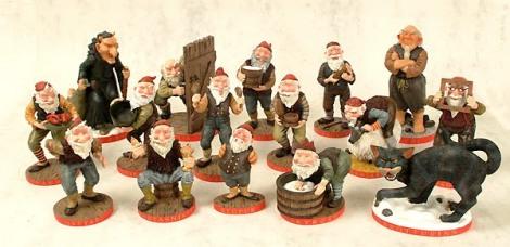 Grýla, seu marido, os trezes filhos e o Gato do Natal (Fonte: http://www.julli.is/jol/gryla.htm)