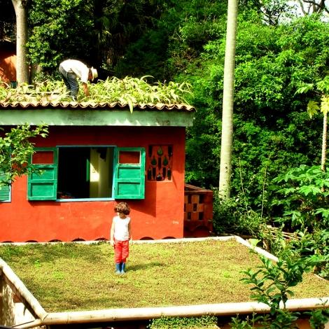 Tibá mostra que até os telhados podem ser usados para plantação, o que é aplicável em ambientes urbanos também. (Foto: Tibá)