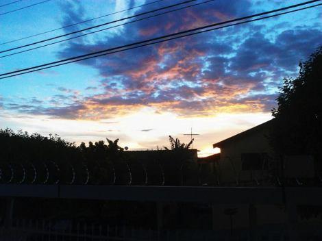 O pôr-do-sol em Marília (Foto: Adriana Kimura)