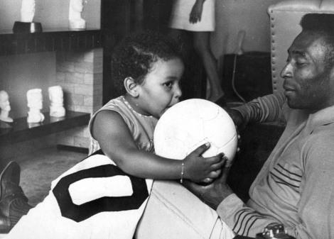 Pelé e sua filha Kelly Cristina (Foto: AE)