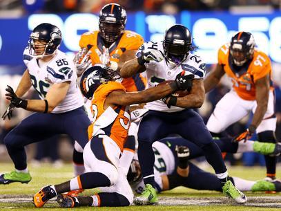 O Seattle Seahawks não economizou na artilharia contra o Denver Broncos (Foto: Getty Images)