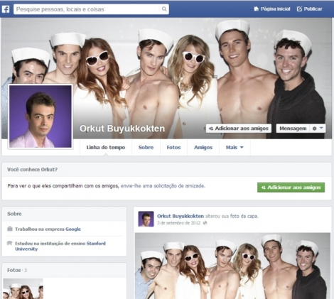 Ex perfil do criador da rede social. Orkut Büyükkökten abandonou o site, mas mantém um perfil privado no Facebook e uma conta desatualizada no Twitter (Foto:  info.abril.com.br)
